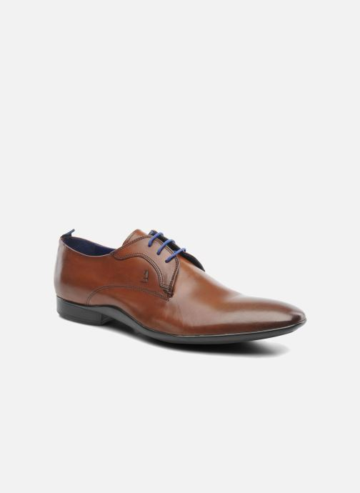 Snøresko Azzaro Giant Brun detaljeret billede af skoene