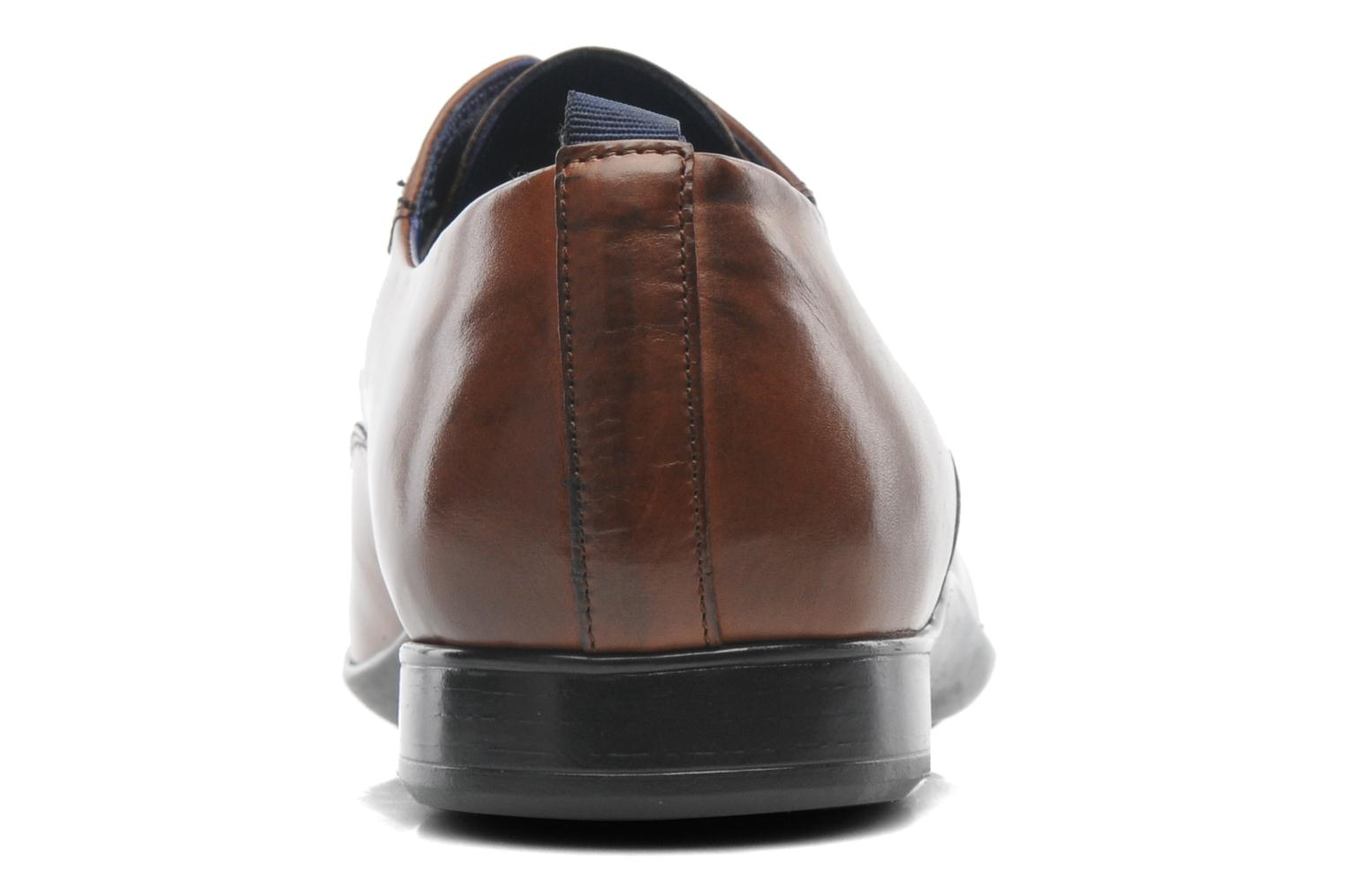 Lace-up shoes Azzaro Giant Brown view from the right