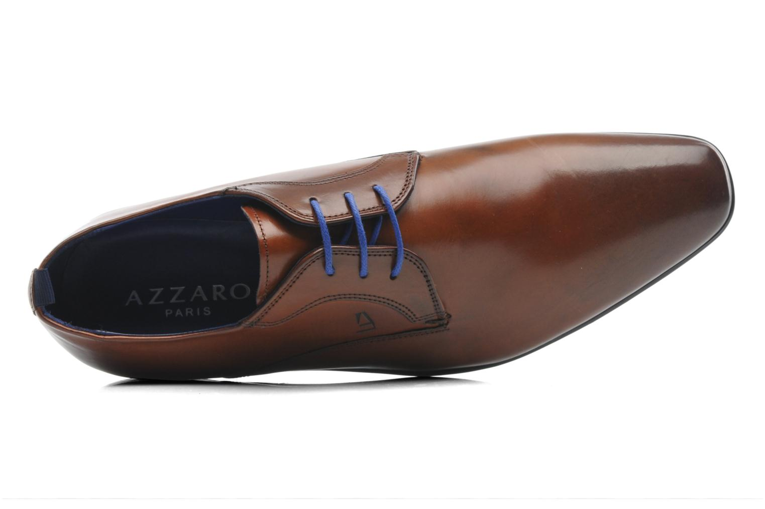 Lace-up shoes Azzaro Giant Brown view from the left