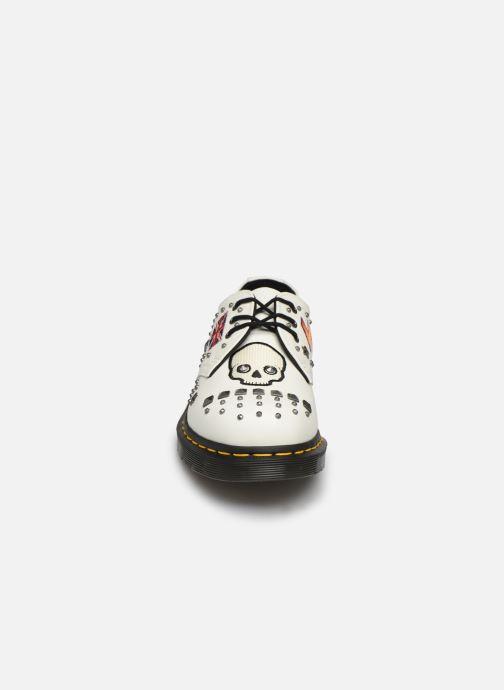 Chaussures à lacets Dr. Martens 1461 W Blanc vue portées chaussures