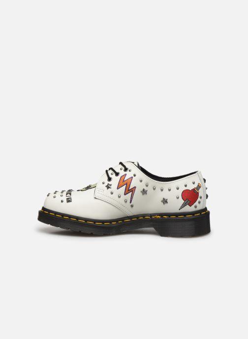 Chaussures à lacets Dr. Martens 1461 W Blanc vue face