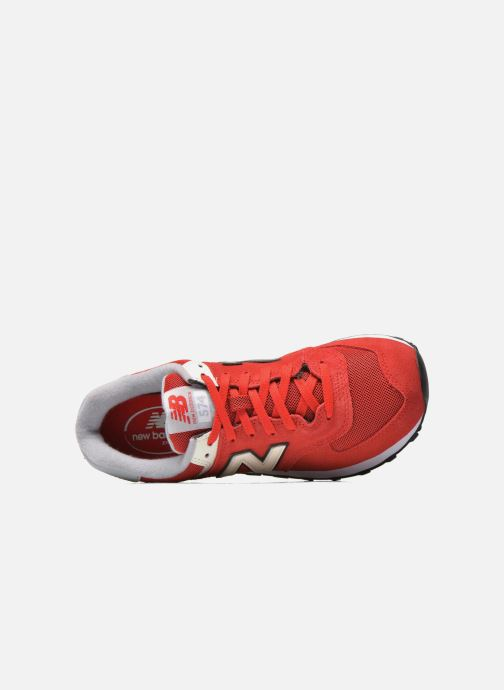 Sneaker New Balance Ml574 rot ansicht von links
