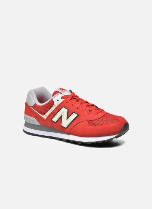 Deportivas New Balance Ml574 Rojo vista de detalle / par
