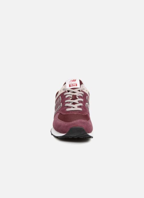 Sneaker New Balance Ml574 orange schuhe getragen