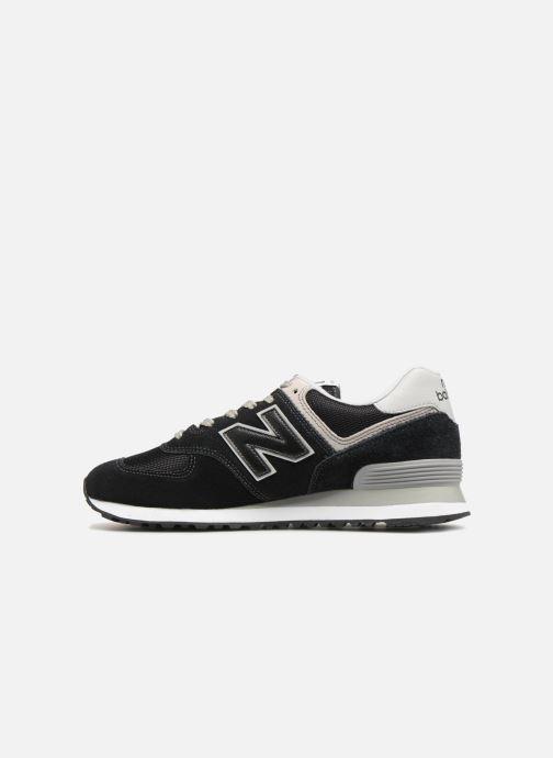 Sneaker New Balance Ml574 schwarz ansicht von vorne
