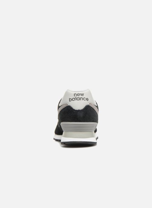 Sneaker New Balance Ml574 schwarz ansicht von rechts