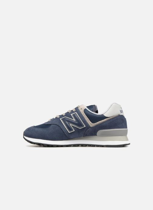 Baskets New Balance Ml574 Bleu vue face