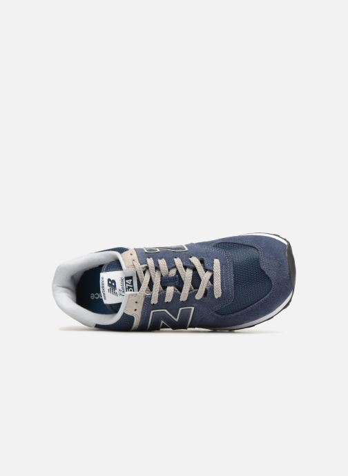 Trainers New Balance Ml574 Blue view from the left