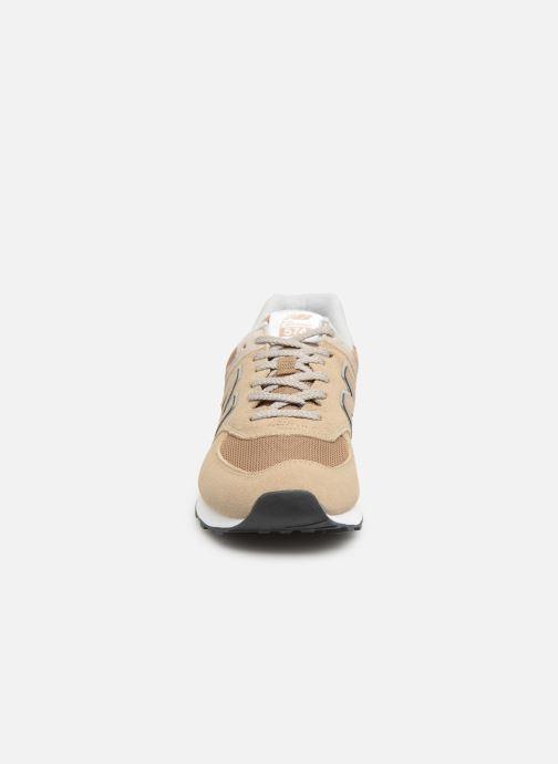 Baskets New Balance Ml574 Blanc vue portées chaussures