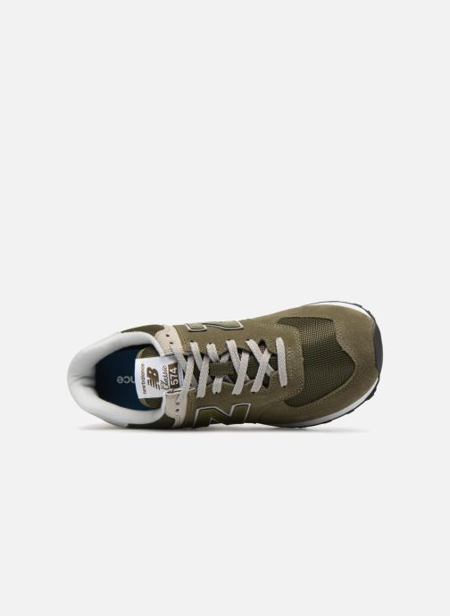 Sneakers New Balance Ml574 Verde immagine sinistra