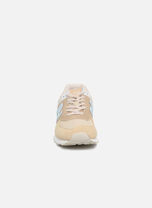 Sneaker New Balance Ml574 beige schuhe getragen