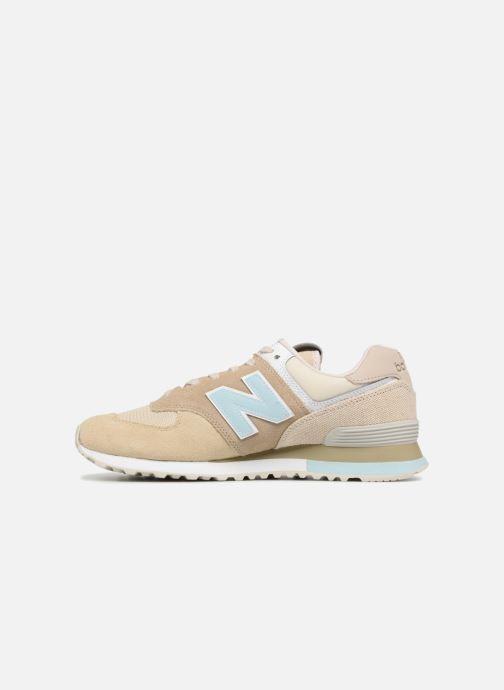 Sneaker New Balance Ml574 beige ansicht von vorne