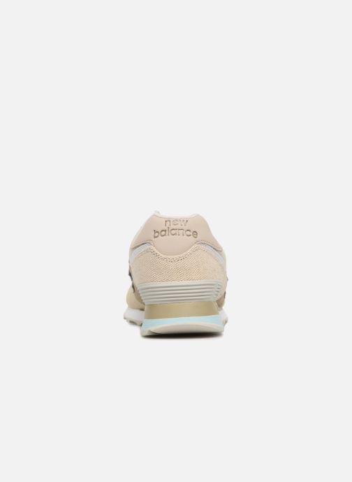 Baskets New Balance Ml574 Beige vue droite