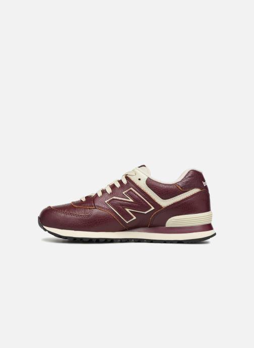 Sneaker New Balance Ml574 rot ansicht von vorne