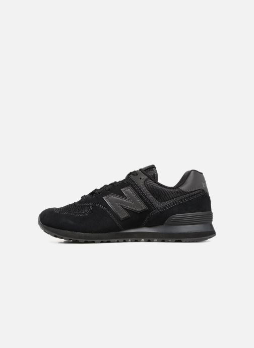 Sneakers New Balance Ml574 Zwart voorkant