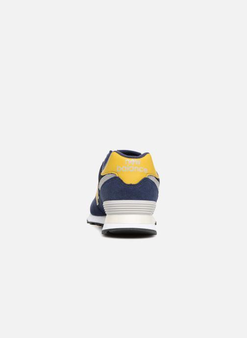 Sneaker New Balance Ml574 blau ansicht von rechts