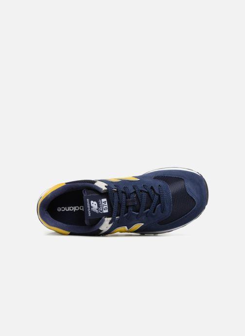 Sneaker New Balance Ml574 blau ansicht von links