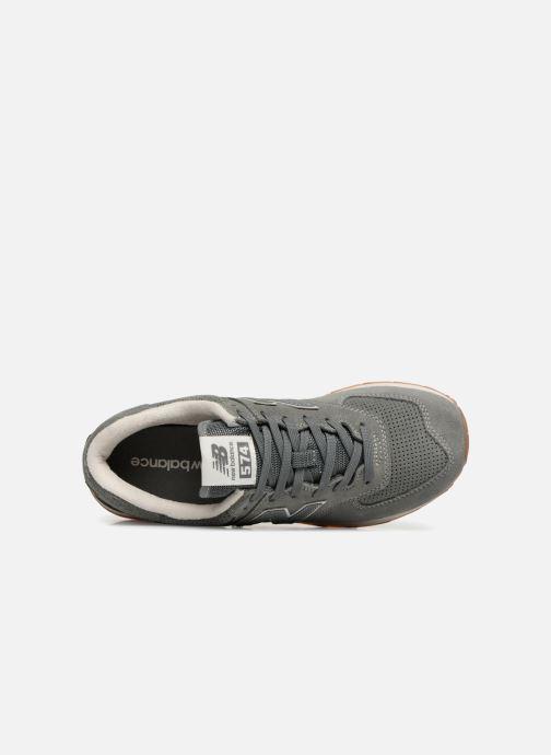 Sneaker New Balance Ml574 grün ansicht von links