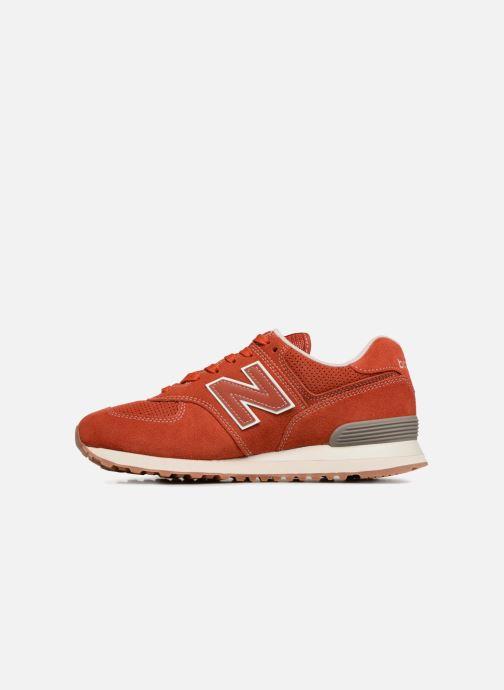 Sneaker New Balance Ml574 orange ansicht von vorne