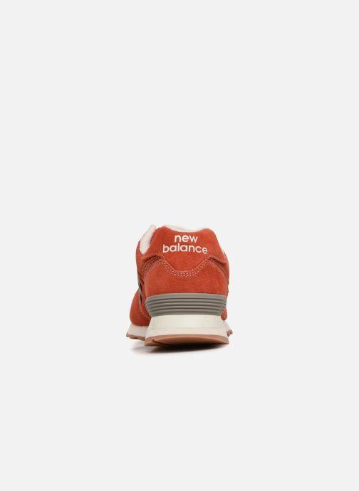 Sneaker New Balance Ml574 orange ansicht von rechts