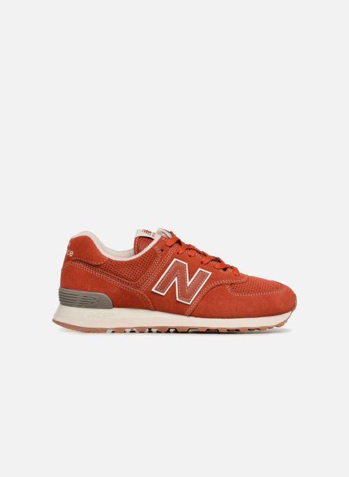 Sneaker New Balance Ml574 orange ansicht von hinten