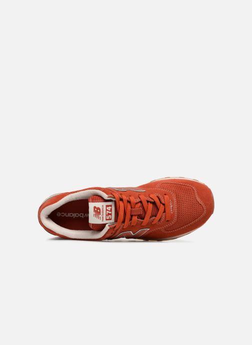 Sneaker New Balance Ml574 orange ansicht von links