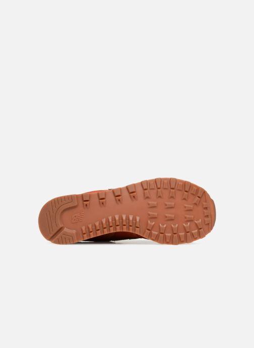 Sneaker New Balance Ml574 orange ansicht von oben