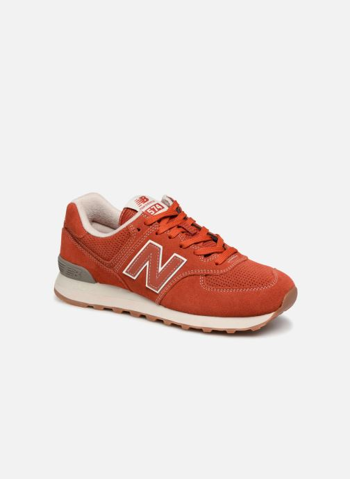 Baskets New Balance Ml574 Orange vue détail/paire