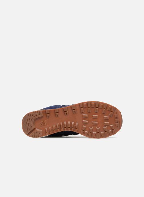 Baskets New Balance Ml574 Bleu vue haut