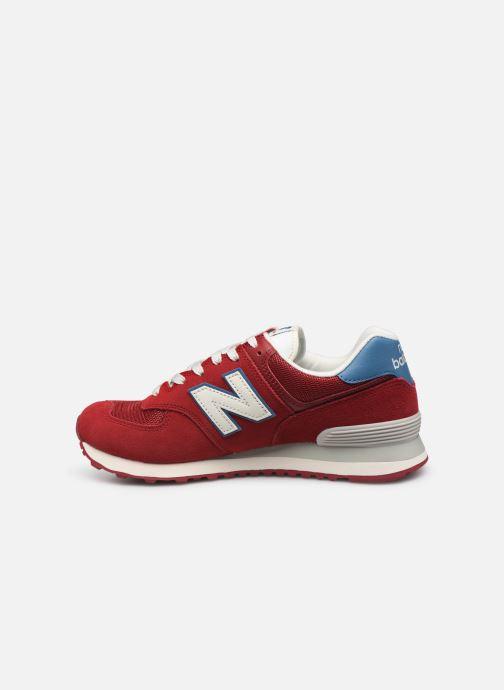 Sneakers New Balance Ml574 Bordeaux voorkant