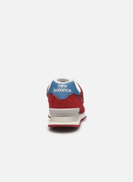 Sneaker New Balance Ml574 weinrot ansicht von rechts