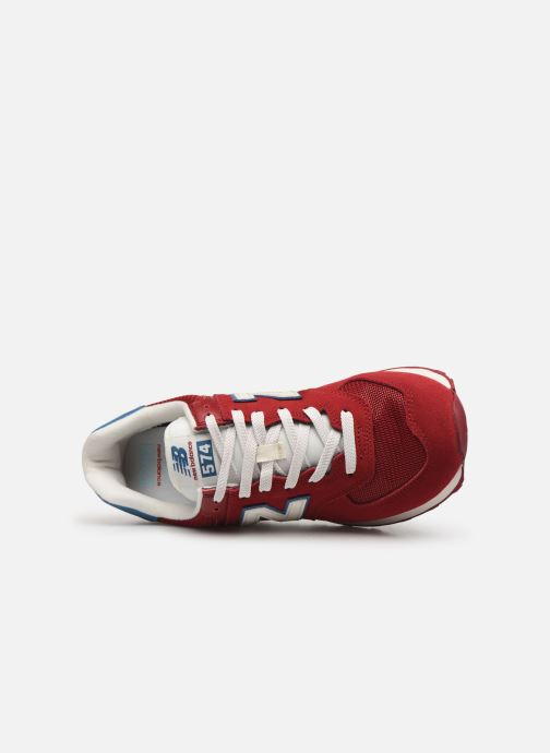 Sneaker New Balance Ml574 weinrot ansicht von links