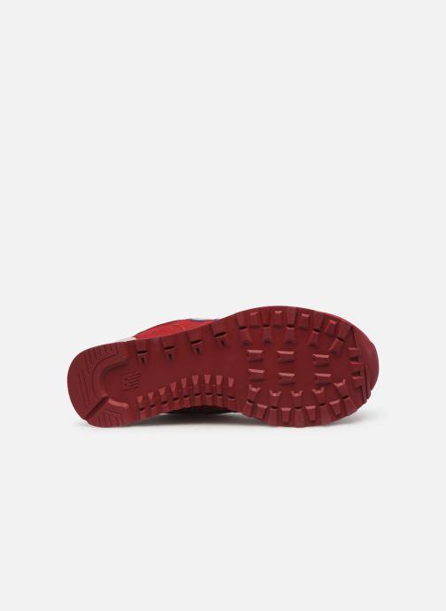 Sneaker New Balance Ml574 weinrot ansicht von oben