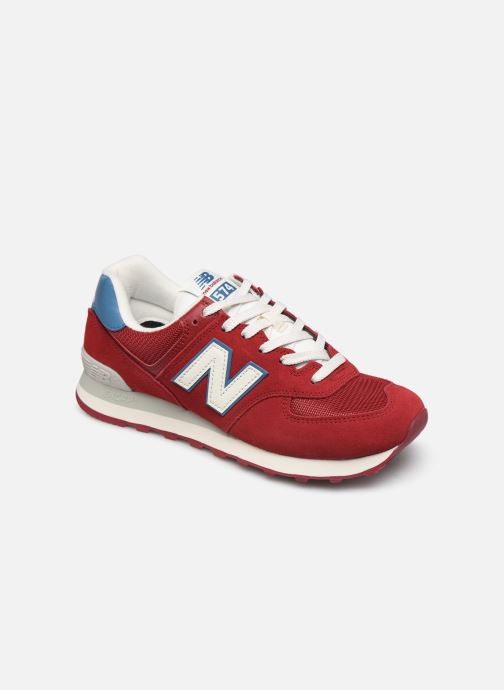 Baskets New Balance Ml574 Bordeaux vue détail/paire