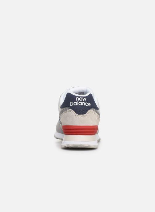 Baskets New Balance Ml574 Blanc vue droite