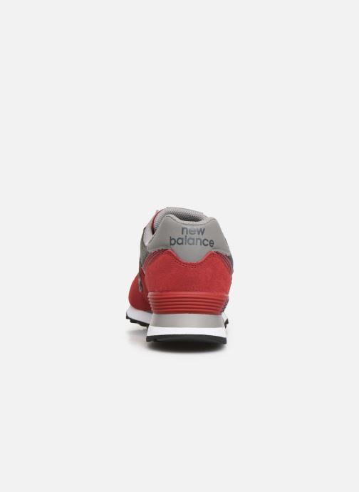 Sneakers New Balance Ml574 Rød Se fra højre