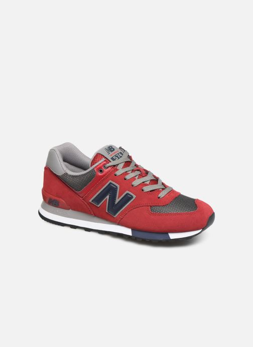 Baskets New Balance Ml574 Rouge vue détail/paire