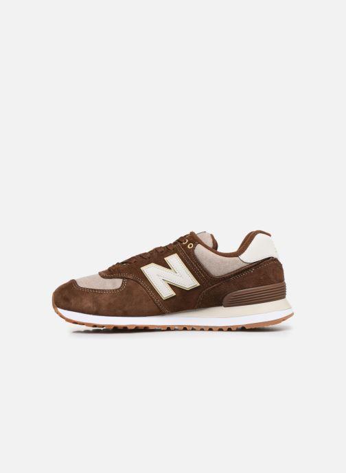 Sneaker New Balance Ml574 braun ansicht von vorne