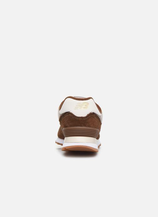 Sneaker New Balance Ml574 braun ansicht von rechts