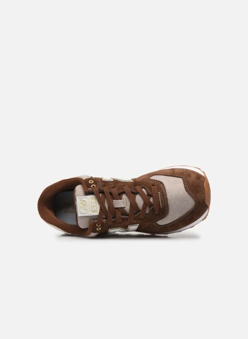 Sneaker New Balance Ml574 braun ansicht von links
