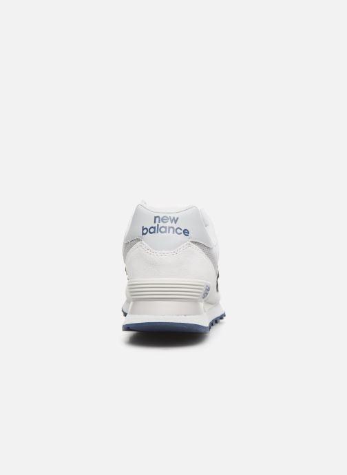 Sneaker New Balance Ml574 weiß ansicht von rechts