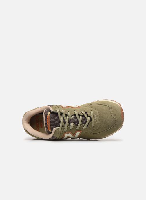 Baskets New Balance Ml574 Vert vue gauche