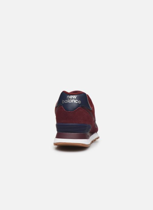 Sneaker New Balance Ml574 rot ansicht von rechts