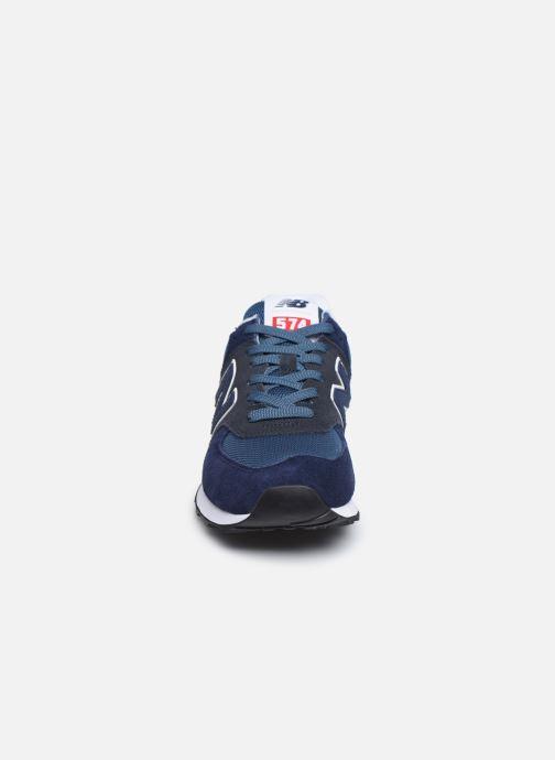 Sneakers New Balance Ml574 Azzurro modello indossato
