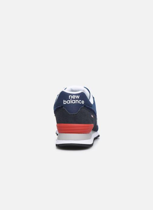 Baskets New Balance Ml574 Bleu vue droite