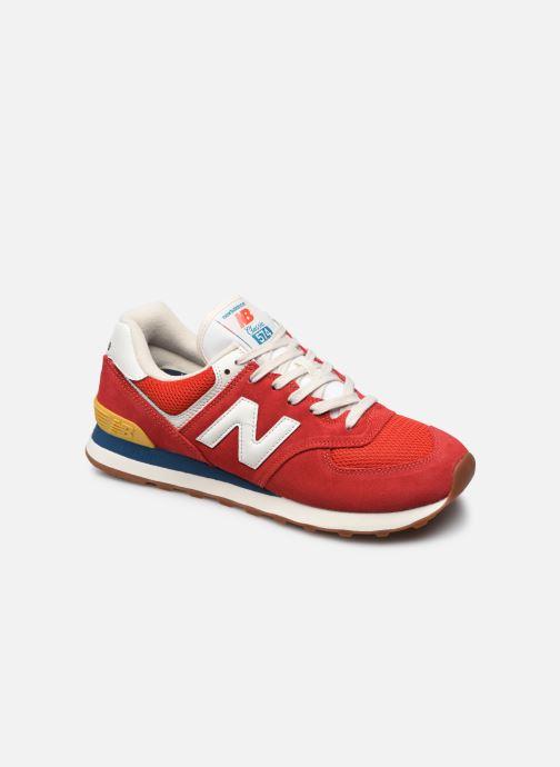 Baskets New Balance Ml574 Rouge vue détail/paire