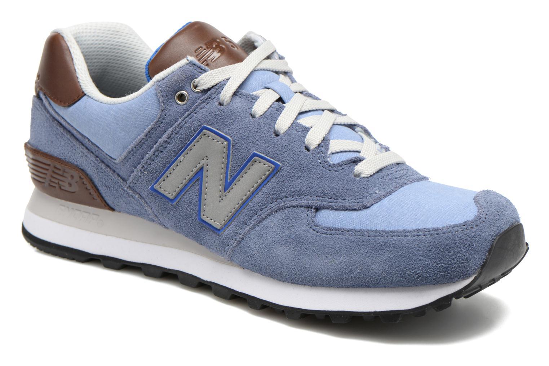 New Balance Ml574 (Bleu) - Baskets en Más cómodo Meilleur modèle de vente