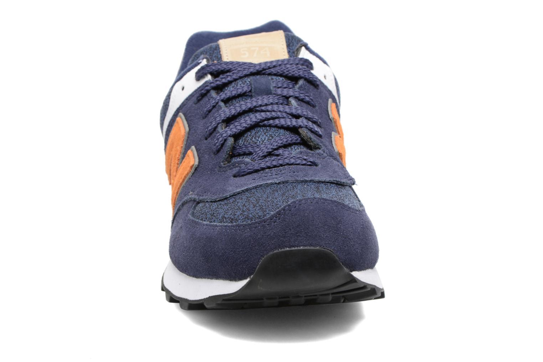 Baskets New Balance Ml574 Bleu vue portées chaussures