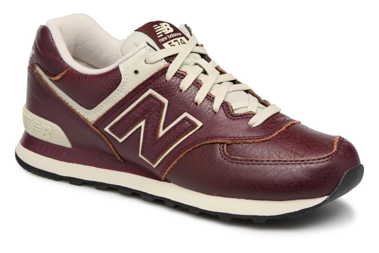 New Balance Ml574 (Rouge) - Baskets en Más cómodo Chaussures femme pas cher homme et femme
