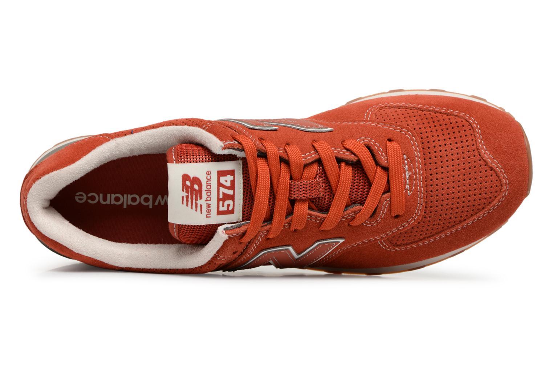 Baskets New Balance Ml574 Orange vue gauche